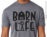 BARN LIFE Graphic Triblend Tee River Imprints