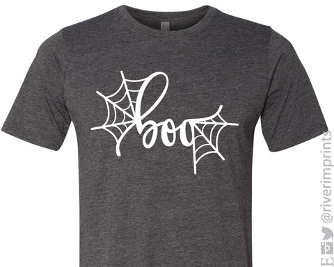 BOO Halloween Graphic Triblend Tee River Imprints