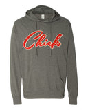 CHIEFS Hoodie Glittery Chief School Mascot Lightweight Hooded Tee Shirt
