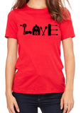 FARM LOVE Graphic Triblend T-shirt by River Imprints