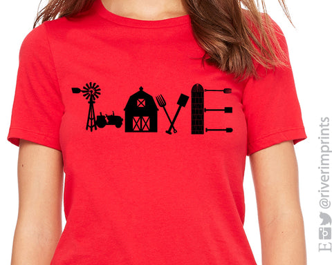 FARM LOVE Graphic Triblend Tee by River Imprints