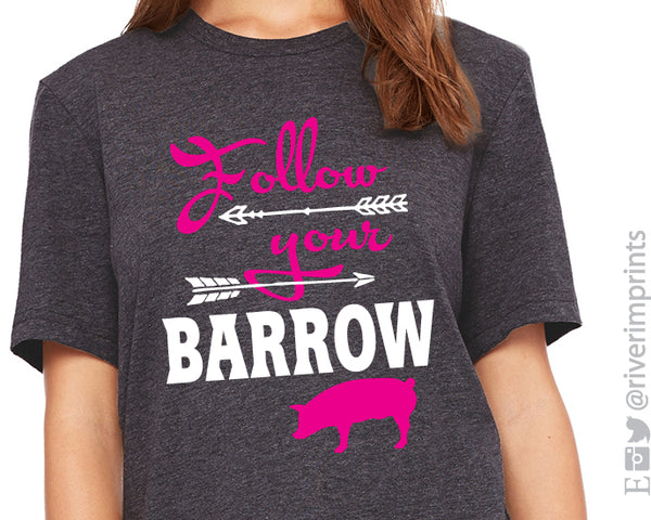 4236594f3 FOLLOW YOUR BARROW Graphic Triblend Tee – River Imprints