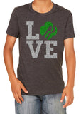 GIRL SCOUT LOVE Glittery Youth Blend Tee