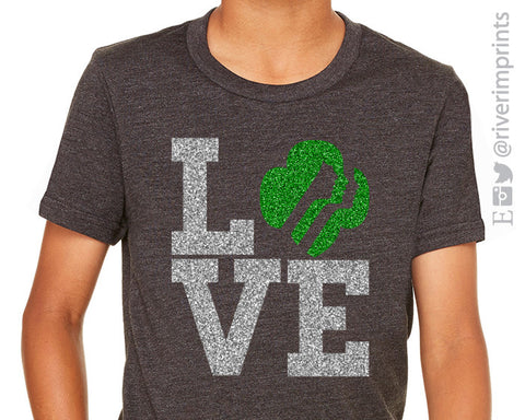 GIRL SCOUT LOVE, glittery sparkle tee shirt