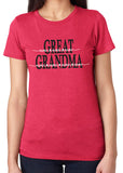GREAT GRANDMA HEART NAMES Personalized Triblend Tee