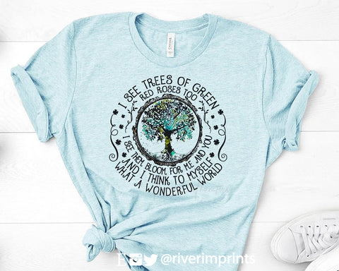 WHAT A WONDERFUL WORLD Blend Tee Shirt