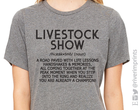 LIVESTOCK SHOW Triblend Graphic Tee by River Imprints