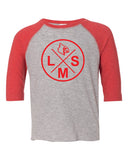 L18 LMS Circle Youth Cardinals School Mascot Blend Raglan