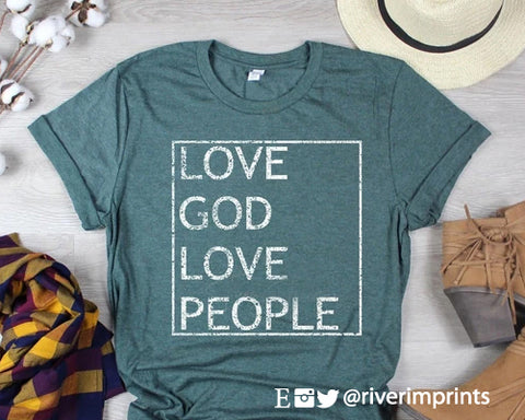 LOVE GOD LOVE PEOPLE Blend Tee Shirt