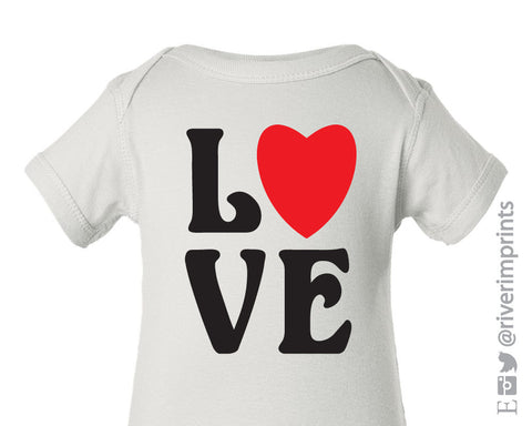 Baby LOVE, boy or girl valentine baby one piece