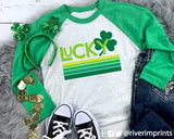 LUCKY RETRO Triblend Raglan