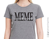 MEME HEART NAMES Personalized Triblend Tee
