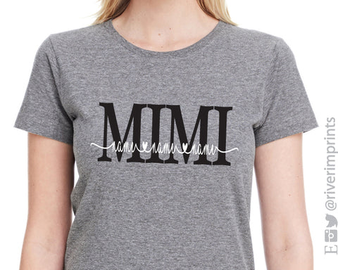 MIMI HEART NAMES Personalized Triblend Tee