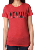 MOMMA HEART NAMES Personalized Triblend Tee