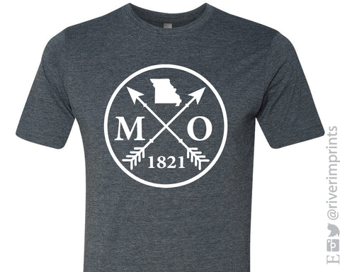 SALE - MISSOURI Est. 1821 Graphic Blend Tee Shirt - READY TO SHIP