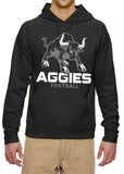 NHC AGGIES Hoodie Mascot Aggie School Mascot Performance Hooded Sweatshirt