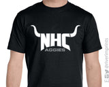 NHC AGGIES Horns Triblend Graphic Tee by River Imprints