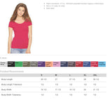 TUPPERWARE Glittery Fitted Scoopneck Triblend Tee