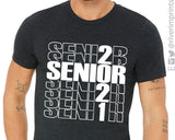 SENIOR 2021 OUTLINE Graphic Triblend Tee