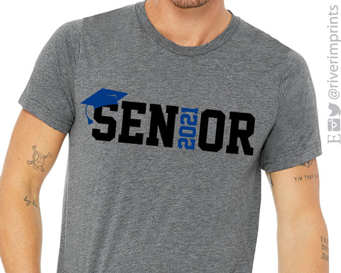 SENIOR 2021 Graphic Triblend Tee