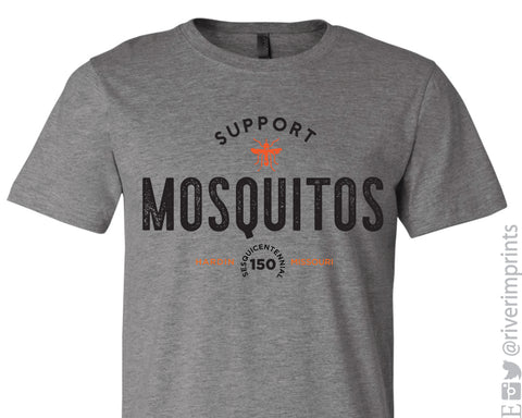 SUPPORT MOSQUITOS HARDIN MISSOURI 150 YEARS Triblend Tee