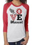 LOVE Track & Field Personalized Glittery Triblend Raglan