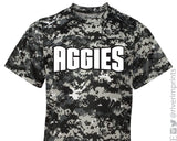 AGGIES Youth Digital Camo Performance Tee River Imprints