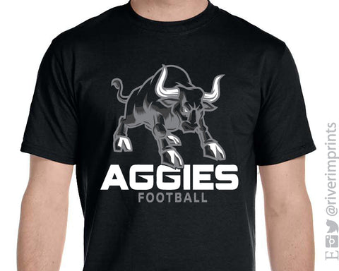 NHC AGGIES Mascot Graphic Triblend Tee by River Imprints