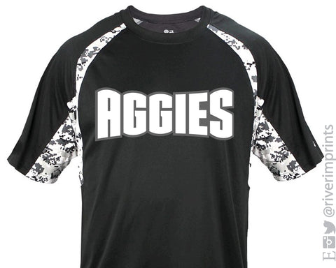 AGGIES Digital Camo Accent Performance Tee