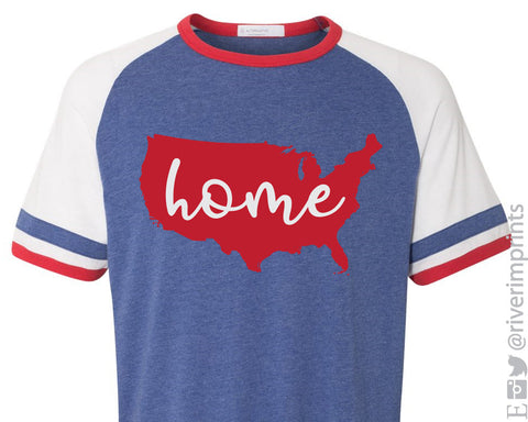 AMERICA HOME Vintage 50/50 Jersey Tee