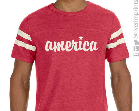 AMERICA Eco-Jersey Short Sleeve T-Shirt