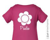 FLOWER Personalized Cotton Onesie or Tee