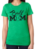 BALL MOM Glittery Cotton Tee