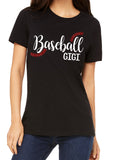 BASEBALL GIGI Glitter Triblend T-shirt by River Imprints