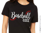 BASEBALL GIGI Glitter Triblend Tee by River Imprints