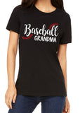BASEBALL GRANDMA Glitter Triblend T-shirt River Imprints