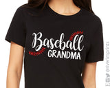 BASEBALL GRANDMA Glitter Triblend Tee River Imprints