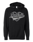 Hoodie BASEBALL GRANDMA HEART Lightweight Glittery Hooded Sweatshirt
