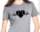 BASEBALL HEARTBEAT Graphic Triblend Tee