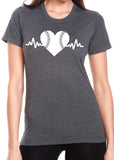 BASEBALL HEARTBEAT Graphic Triblend T-shirt River Imprints