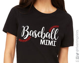 BASEBALL MIMI Glitter Triblend T-shirt River Imprints