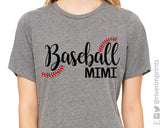 BASEBALL MIMI Glitter Triblend Tee River Imprints