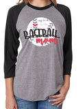 BASEBALL MOM Triblend Raglan