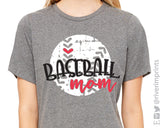 Baseball Mom Distressed Triblend Tee