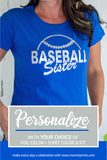 BASEBALL SISTER Shiny Cotton Tee