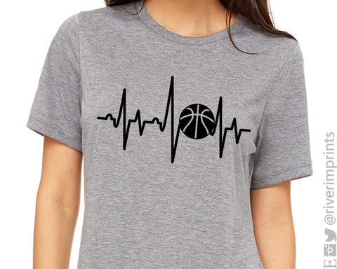 BASKETBALL HEARTBEAT Graphic Tee