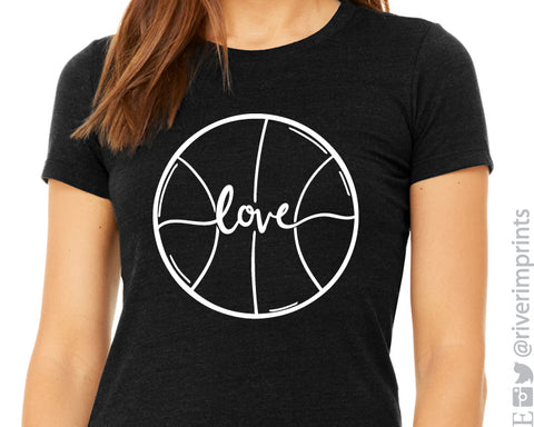 BASKETBALL LOVE Graphic Triblend Tee River Imprints