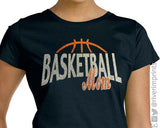 BASKETBALL MOM, sparkly Basketball glitter shirt