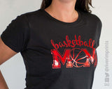 BASKETBALL MOM Shiny Cotton Tee River Imprints