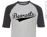 BEARCATS Youth Bearcat School Mascot Blend Raglan Shirt